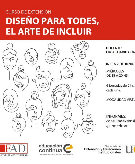 Curso de Extensión: Diseño Para Todes, el Arte de Incluir – Inicia: 02/06/2021