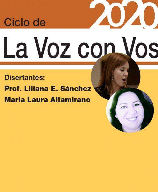 No te pierdas este encuentro del Ciclo de «La Voz con Vos» 2020