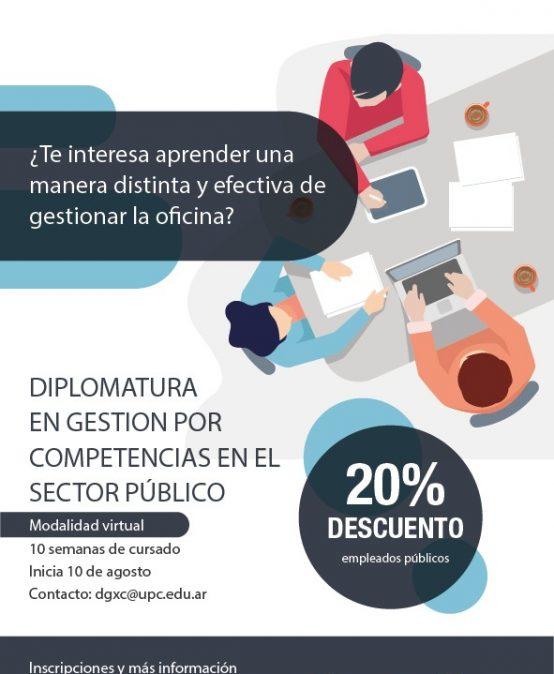Inscripciones abiertas: Diplomatura en Gestión por Competencia en el sector público
