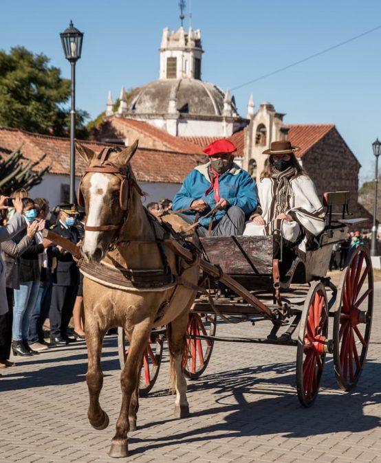 Inauguraron en Jesús María el adoquinado del antiguo Camino Real al Alto Perú