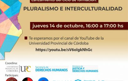 Invitación al lanzamiento del Ciclo de formación: Pluralismo e interculturalidad