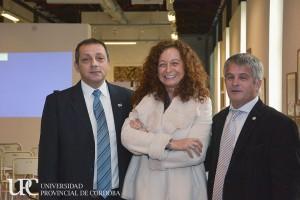 Rector UADER Anibal Sattler, Rectora UPC, Isabel Bohorquez, Rector UPSOL Hernán Vigier