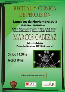 AFICHE MARCOS CABEZAZ 2017
