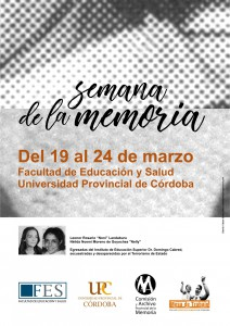 SEMANA DE LA MEMORIA FES UPC-2018