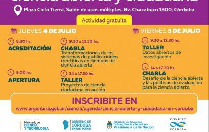 Ciclo de Talleres y Charlas sobre Ciencia Abierta y Ciudadana