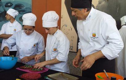 Cocina en vivo en la Feria de Alimentos de la Agricultura Familiar