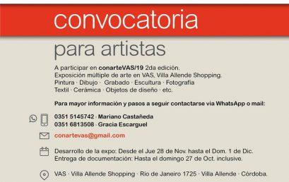 Convocatoria para artistas Conarte VAS 2019