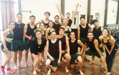 El Equipo de Gimnasia de la UPC rumbo a la Gymnaestrada Argentina