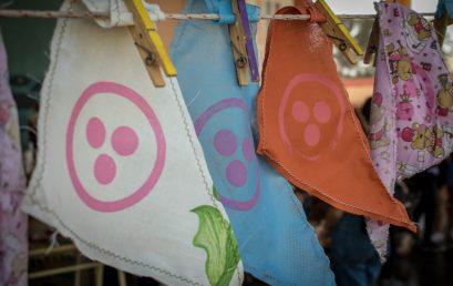 Estudiantes de la Escuela Rubén Darío participaron del taller para la confección de Pañuelos de la Paz