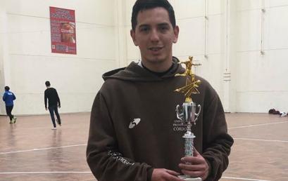 El estudiante/deportista Nahuel Soto fue elegido como mejor Director Técnico de la Liga Cordobesa de Futsal