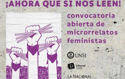 Convocatoria de microrrelatos feministas de la Universidad Nacional de San Juan