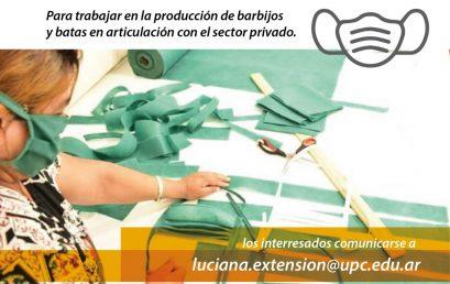 Convocatoria a talleres y cooperativas textiles para la producción de barbijos y batas