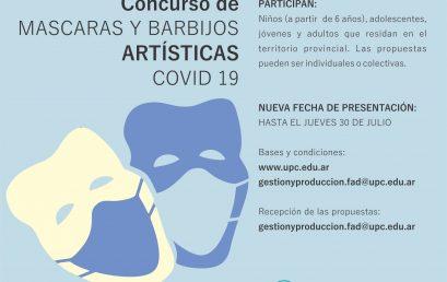 Prórroga para el concurso de Máscaras y barbijos artísticas COVID 19