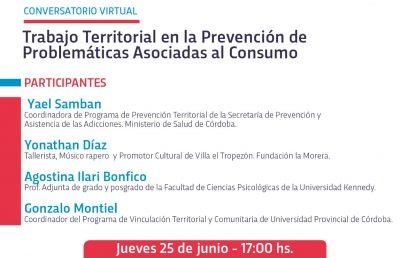 Conversatorio virtual: El Trabajo Territorial en la Prevención de Problemáticas Asociadas al Consumo