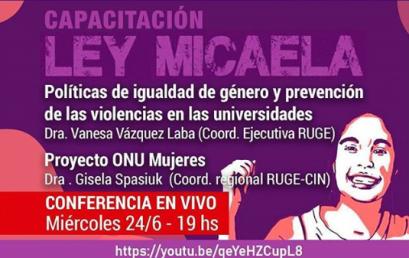 Mirá estas dos nuevas capacitaciones sobre Ley Micaela