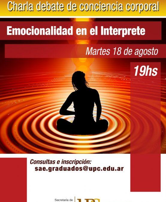 Segundo ciclo de charlas- debates de conciencia corporal para el interprete