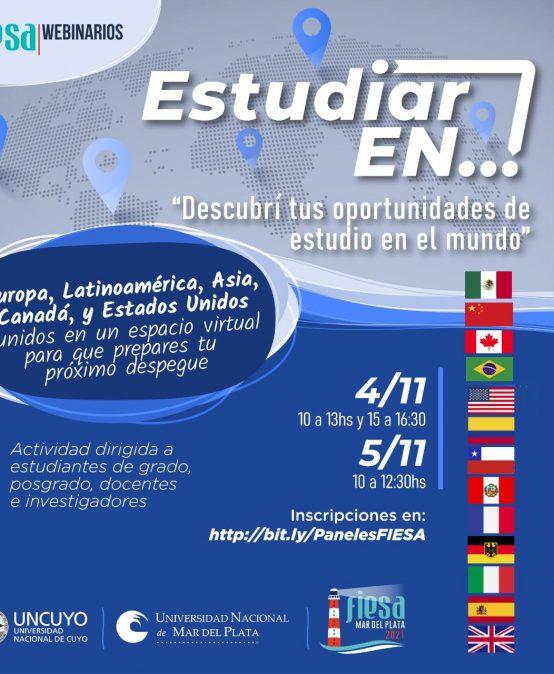 """Panel Virtual """"Estudiar en"""": Latinoamérica, Europa, Asia y Norteamérica"""