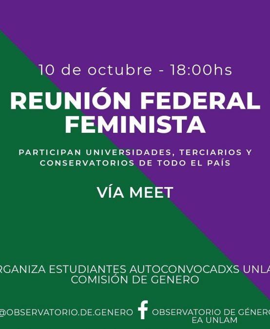 Sumate a la Segunda Reunión Federal Feminista de Educación Superior