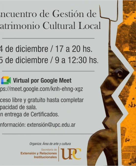 Participá del Encuentro de Gestión de Patrimonio Cultural Local