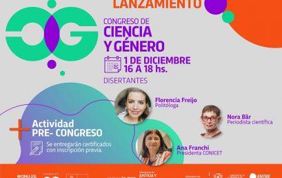Te invitamos al lanzamiento del Congreso Ciencia y Género