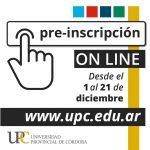 ¡Abrieron las preinscripciones para el 2021 en la Universidad Provincial de Córdoba!