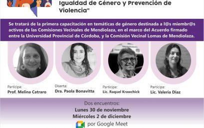 Primera Capacitación en Género para las Comisiones Vecinales de Sierras Chicas