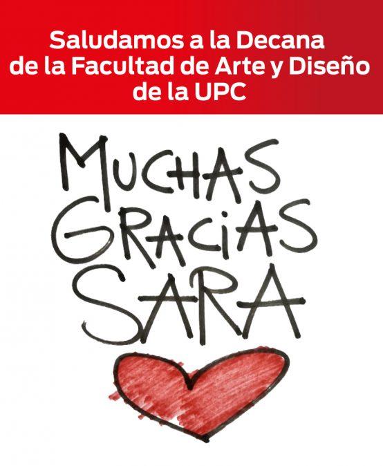 ¡Gracias por tanto Sarita!