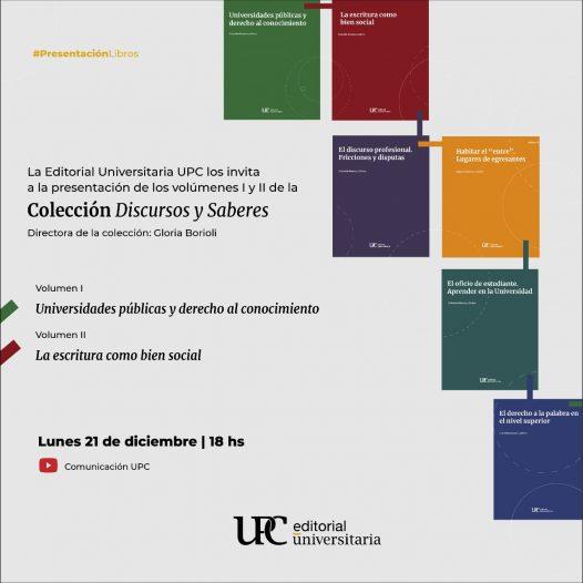 Se presenta la colección Discursos y Saberes de UPC Ediciones