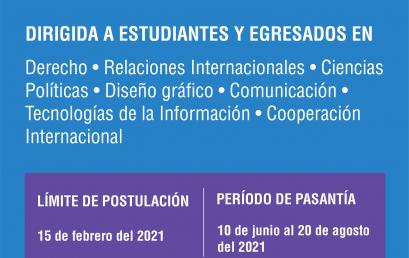 Hasta el 15 de febrero: postulate para el Programa de Pasantías de la OEA