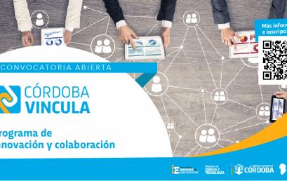 Convocatoria abierta para el Programa de innovación y colaboración: Córdoba Vincula