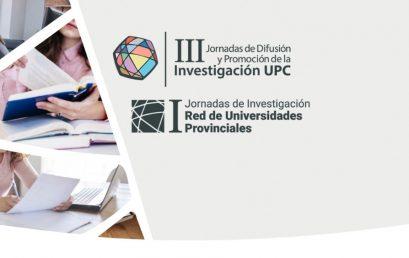 Cerró la recepción de resúmenes para lasIII Jornadas de Difusión y Promoción de la Investigación de la UPC y I Jornadas de Investigación de la RUP