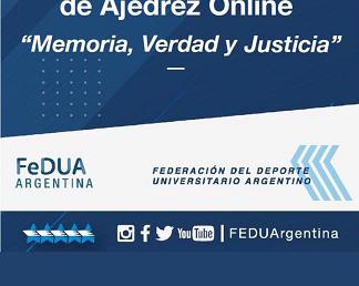 """Participá en el Abierto Universitario de Ajedrez online """"Memoria, Verdad y Justicia"""""""