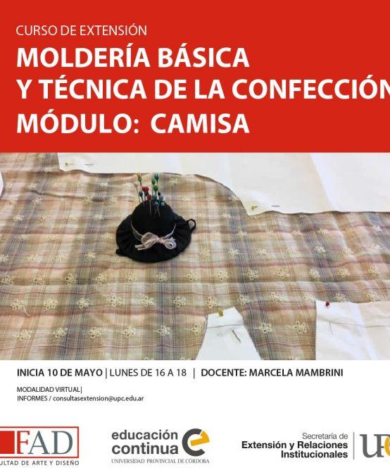 Curso de Extensión: Moldería básica y técnica de la confección. Módulo camisa – Inicia: 10/05/2021