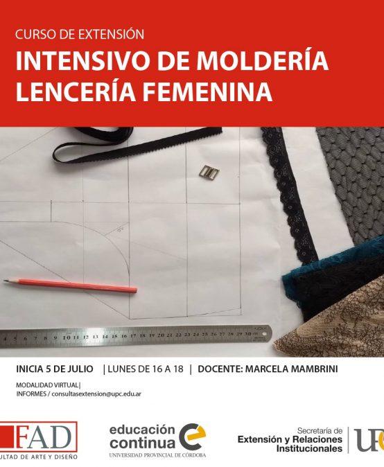 Curso de Extensión: Intensivo de moldería: lencería femenina – Inicia: 05/07/2021