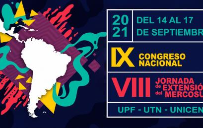 Inscripciones abiertas para el IX Congreso Nacional de Extensión y VIII Jornadas de Extensión del Mercosur