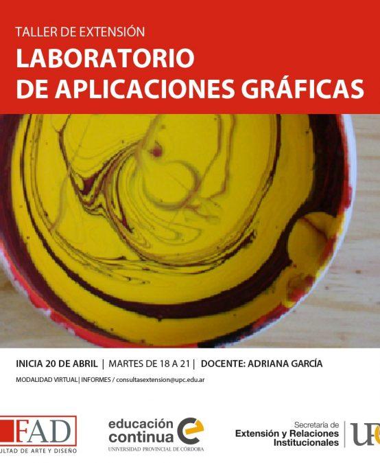 Taller de Extensión: Laboratorio de Aplicaciones Gráficas – Inicia: 18/04/2021