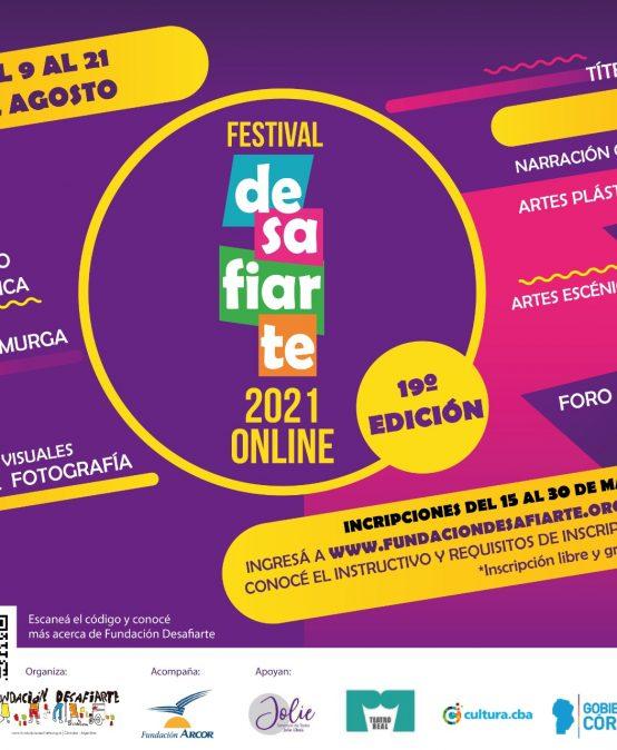 Ya podes inscribirte al Festival Desafiarte 2021 Online