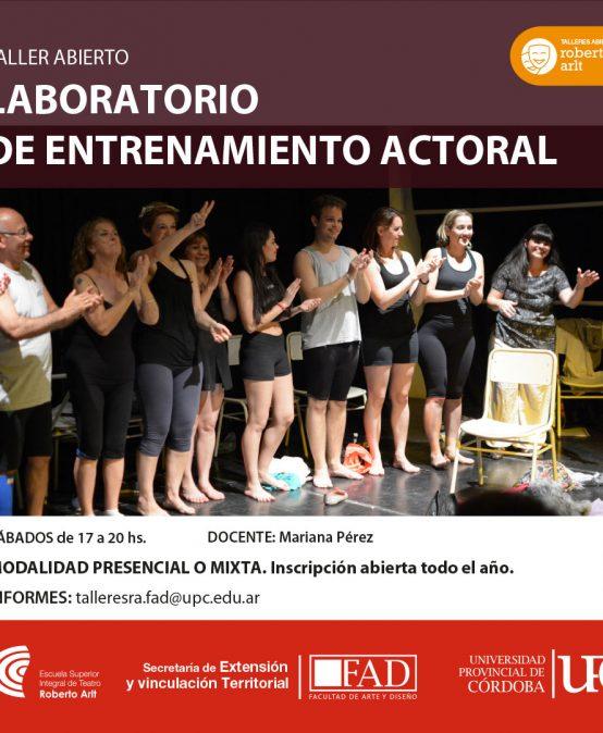 Taller ABIERTO: Laboratorio de entrenamiento actoral
