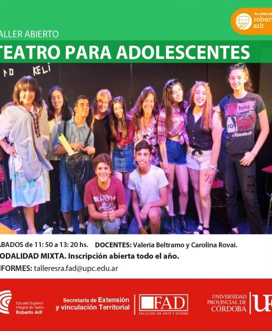 Taller ABIERTO: Teatro para adolescentes