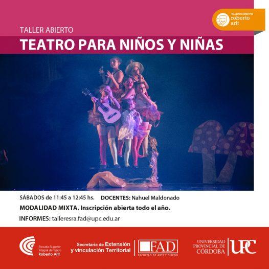 Taller ABIERTO: Teatro para niños y niñas