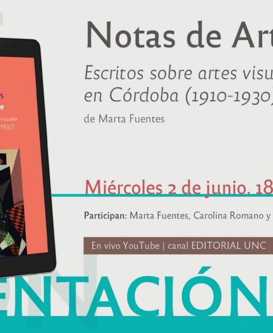 """Presentación del libro """"Notas de Arte"""" de Marta Fuentes"""