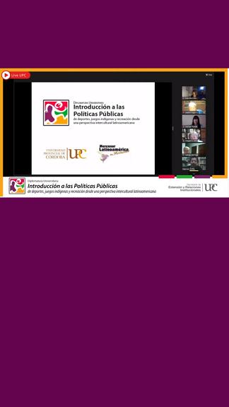 Gran convocatoria en el lanzamiento de la Diplomatura Universitaria Introducción a las Políticas Públicas de Deportes, Juegos Indígenas y Recreación