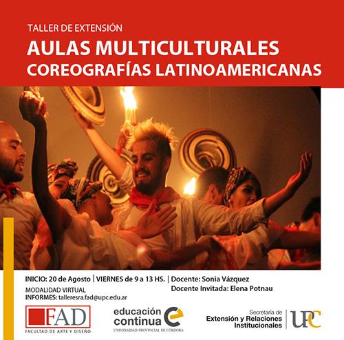 Taller de Extensión: Aulas multiculturales, coreografías latinoamericanas – Inicia: 20/08/2021