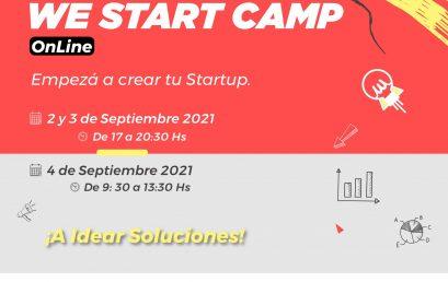 Se viene WE Start Camp, para empezar tu próxima startup