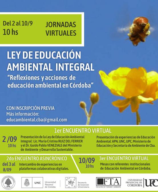 Jornada sobre la Ley de Educación Ambiental Integral: Reflexiones y acciones de educación ambiental en Córdoba