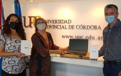 La UPC hizo entrega de equipamiento para el desarrollo turístico y educativo de Cruz del Eje
