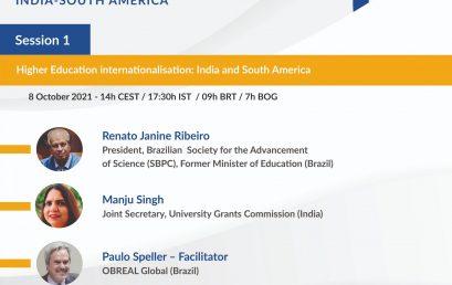 Internacionalización y cooperación en Educación Superior: SUDAMÉRICA e INDIA