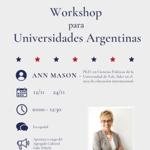 Webinars de Internacionalización por la Dra. Ann Mason
