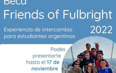 Convocatoria para Beca Friends of Fulbright en Estados Unidos- 2022