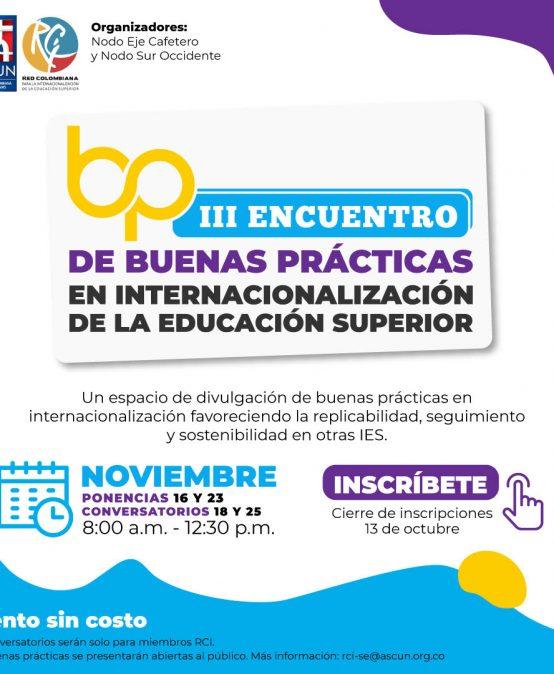 Invitación al III Encuentro de Buenas Prácticas de Internacionalización de la Educación Superior